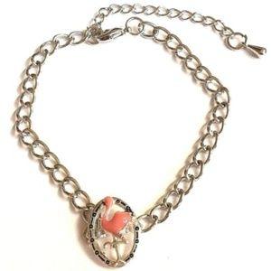 """Jewelry - Silver Flamingo Bracelet Anklet 8-10.5"""" Island"""